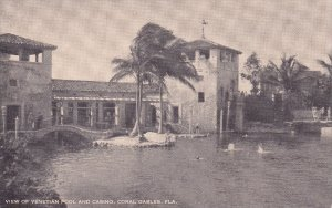 CORAL GABLES, Florida; View of Venetian Pool and Casino, 1900-10s