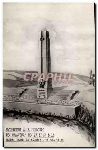 Postcard Modern Army Monument to the Memory of the Hunters of the 27 and 67th...