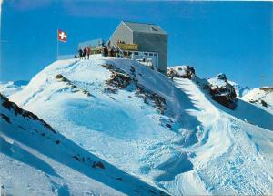 Switzerland Lenzerheide Valbella Gipfelstation der Parpaner Rothornbahn cableway