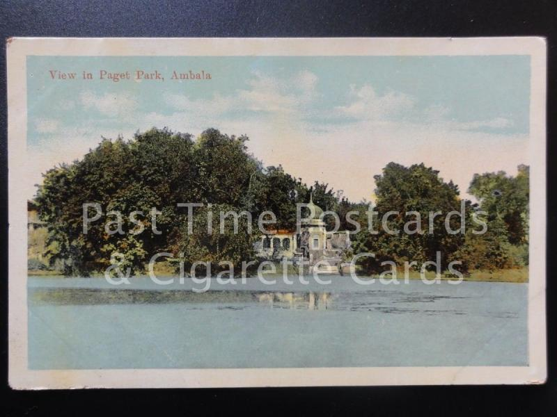 India: Ambala, View of Paget Park, Old Postcard - Pub by Moori Dhur & Sons