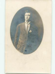 rppc Pre-1920's Possible Gay Interest HANDSOME MAN IN SUIT AND TIE AC7938