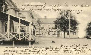 sweden, ALFVESTA, Tingshuset och Gästgifvaregården (1904) Stamp