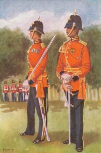 Military postcard Garderegiment Prinses Irene Ceremoniële tenue Officieren 02.14