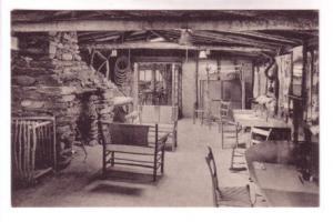 B&W Interior Stone Fireplace Long Trail Lodge Sherburne Pass Vermont, LG Trea...