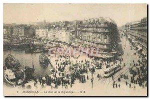Old Postcard Marseille Rue de la Republique