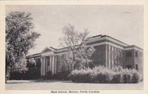 High school, Monroe, North Carolina, PU-1942