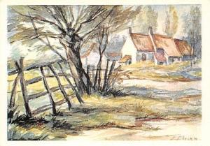 Vieille Ferme, D'Apres un Tableau Original Peint a la Bouche par Eugene Pirard