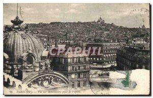 Postcard Old Paris IX Montmartre view taken of the Opera