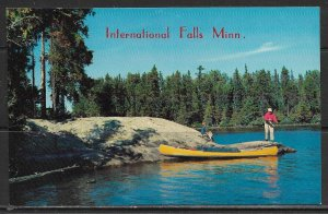 Minnesota, International Falls - Fishing Off The Rocks - [MN-057]