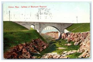 Postcard Clinton, MA - Spillway of Wachusett Reservoir B34