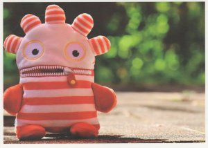 Wool Glove Toy Puppet With A Zippy Rainbow Zip Up Mouth German Postcard