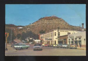 RATON NEW MEXICO 1960's CARS DOWNTOWN STREET SCENE VINTAGE POSTCARD STORES