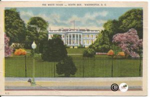 The White House South Side Washington D.C. Lawn of White House Capitol