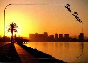 California San Diego Skyline At Sunrise