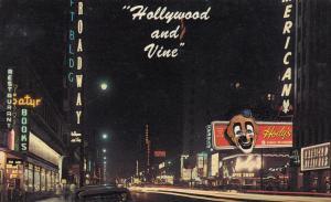 Hollywood Blvd, at Vine Street , HOLLYWOOD, California, 1940-1960s
