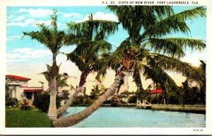 Florida Fort Lauderdale Vista Of New River Curteich