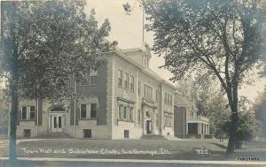 C-1908 Cook County Town Hall Suburban Club La Grange Iliinois Real photo 10333