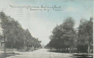 LARAMIE , Wyoming, 1910 ; University Avenue , Looking East