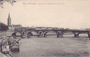France Toulouse Quai de la Daurade et Pont Neuf
