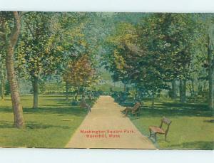 Unused Divided-Back PARK SCENE Haverhill Massachusetts MA hk8899