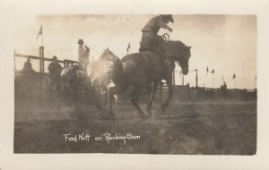 RP: RODEO , 1900-10s ; Fred Nott on Rambing Sam