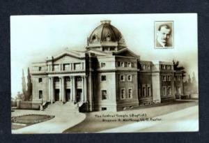 KS Central Baptist Temple KANSAS CITY Real Photo RPPC Postcard
