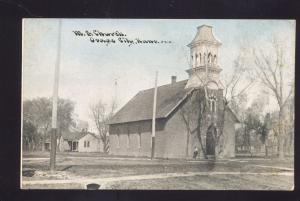 OSAGE CITY KANSAS METHODIST EPISCOPAL CHURCH ANTIQUE VINTAGE POSTCARD