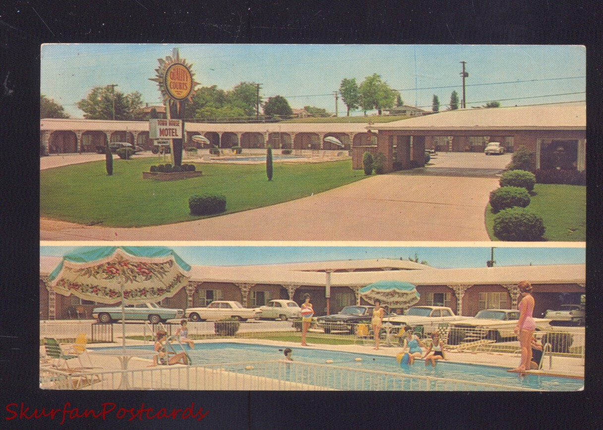 TUPELO MISSISSIPPI TOWN HOUSE MOTEL SWIMMING POOL OLD CARS ...