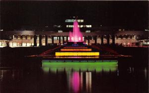 Pittsburgh Pennsylvania~Greater Pittsburgh Airport~Fountain Lit up @ Night~1960s