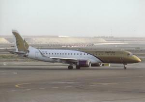 GULF AIR, EMB-190AR, unused Postcard