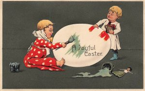 LP23 Easter Postcard Publisher PFB Painting Egg