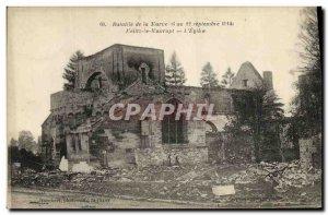 Postcard Old Army Battle of Marne Maurupt The Reiltz the church