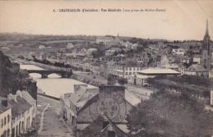 CHATEAULIN, Vue generale, vue prise de Notre-Dame, Finistere, France, PU-1913