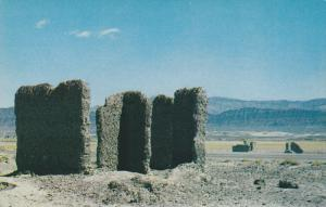 Near SHOSHONE, California, 1940-1960's; Adobe Ruins Along State Highway 127