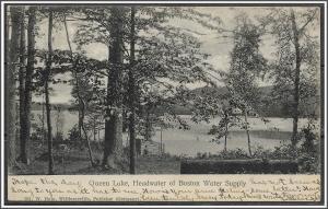 Massachusetts, Boston Queen Lake Boston Water Supply - [MA-626]