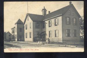 PENN'S GROVE NEW JERSEY PUBLIC SCHOOL BUILDING VINTAGE POSTCARD NJ