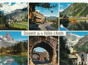 Souvenir de la Vallee d'Aoste, 1968 used Postcard