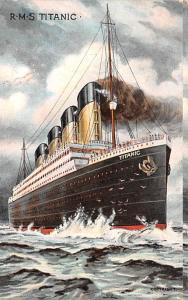 Steamer Titanic Ship R.M.S. Totanic Unused minimal corner wear