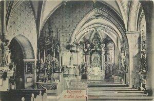 Postcard Czech Republic Vimperk church