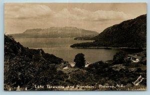 Postcard New Zealand Rotorua Lake Tarawera & Mountain RPPC c1930s Real Photo AD6