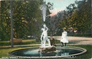 Providence~Roger Williams Park~Victorian Children @ Broad Street Fountain~1908