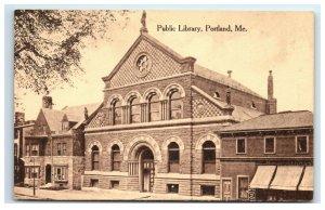Postcard Public Library, Portland ME Maine 1922 G33