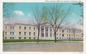 Nebraska Hastings Mary Lanning Memorial Hospital Curteich