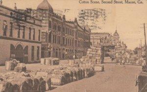 MACON , Georgia , PU-1918 ; Cotton Scene , Second Street