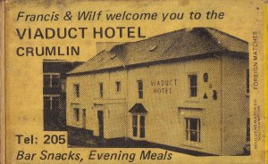 Viaduct Hotel Crumlin Ireland Irish Old Pub Matchbox Label