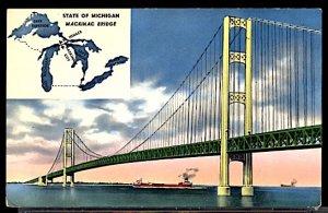 USA The Mackinac Bridge Michigan CDS 1957