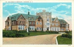 Dunkirk New York~St Columban's Seminary~Tudor Style~Dirt Drive~1933 Linen PC