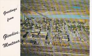 Aerial View Greetings From Glendive Montana