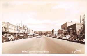 Chelan Washington~Woodin Avenue~Bowling Alley~Ruby Theater~1940-50 Cars~RPPC