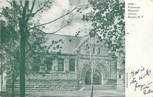 Batavia New York~Richmond Memorial Library~1907 B&W Postcard